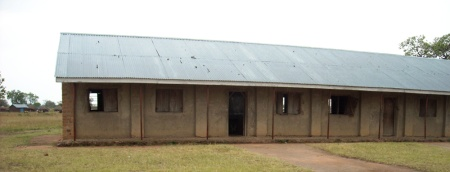 The building of a school next to an IDP camp in the Teso region. Research participants said they have the physical walls but not the teachers and teaching materials needed to provide their children with quality education.