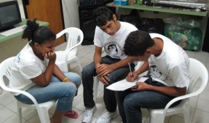 Young people in Brazil also getting down to business (growing towards peace project)