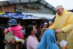 Pope Francis in Palo, Philippines,