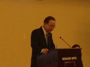 ban ki moon addressing csos