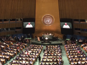 Pope Francis' addresses the UN General Assembly on 25th September 2015